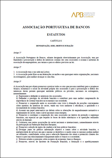ESTATUTOS DA APB